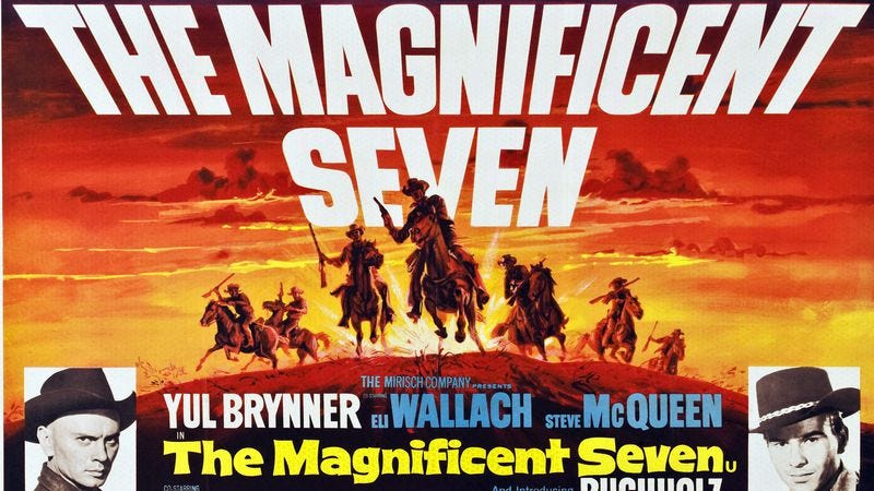 The Magnificent Seven movie poster (Donaldson Collection/Getty Images)