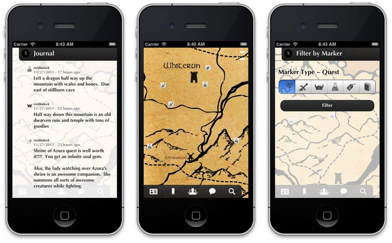 Illustration for article titled Skyrim? There's An App For That (No, Really)