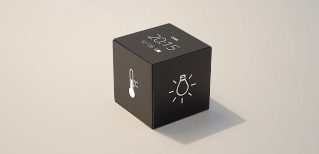 a simple little cube wants to be the remote control for your smart home. Black Bedroom Furniture Sets. Home Design Ideas