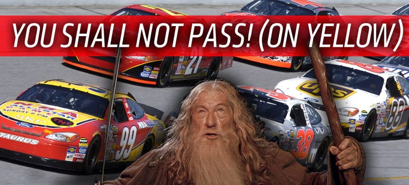 Illustration for article titled NASCAR Ruins Lord Of The Rings Marathon, Fans Whine Like Mad On Twitter