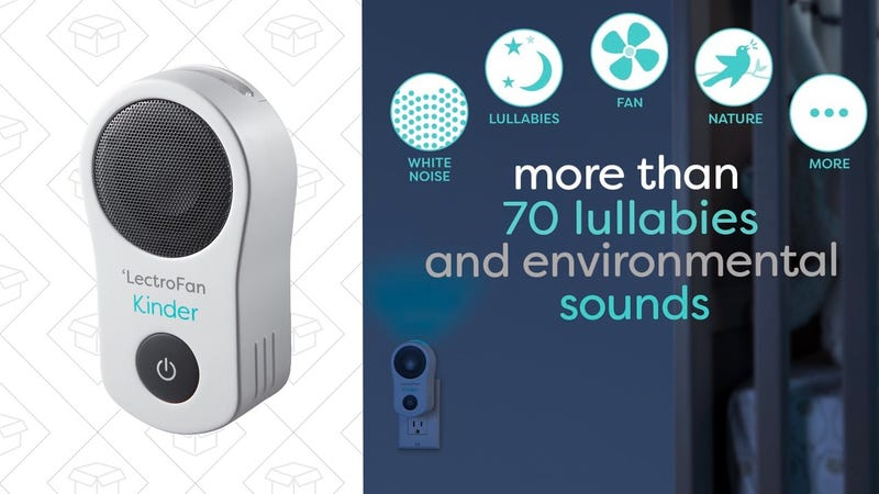 LectroFan Kinder Sleep Sound Machine and Night Light | $60 | After on-page coupon and Use code 25OffKinder