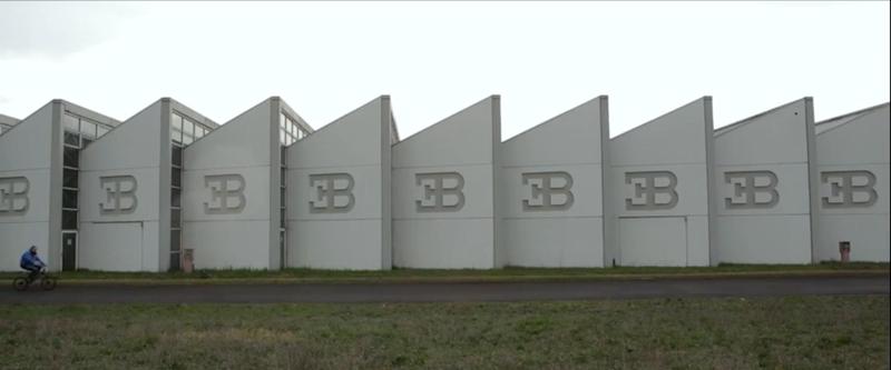 Bugatti's abandoned Campogalliano factory. Screenshot from Kidston documentary.