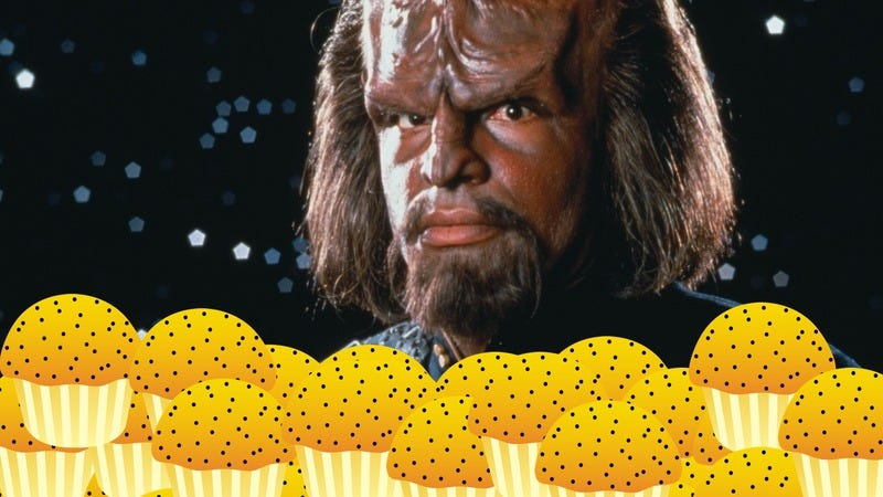 Illustration for article titled Star Trek fans want Worf back on TV, will make it so with muffins