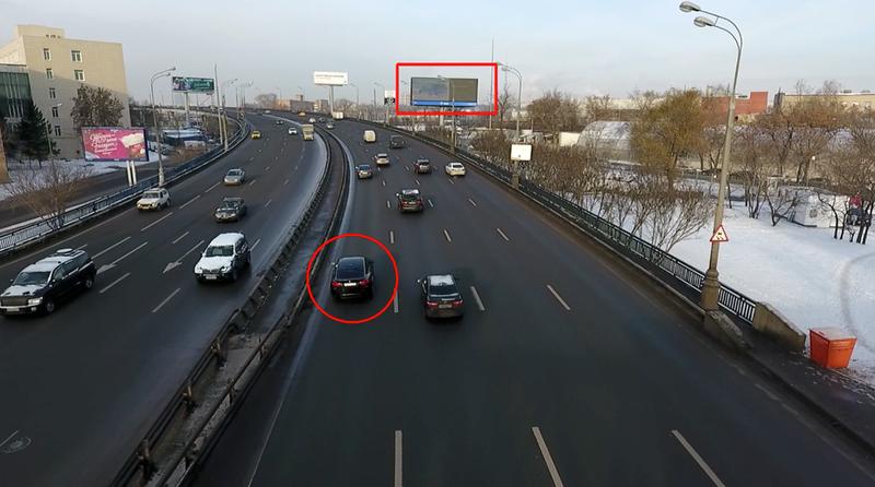 Illustration for article titled Instalan una valla publicitaria en Rusia que cambia de anuncio en función de cuál sea tu coche
