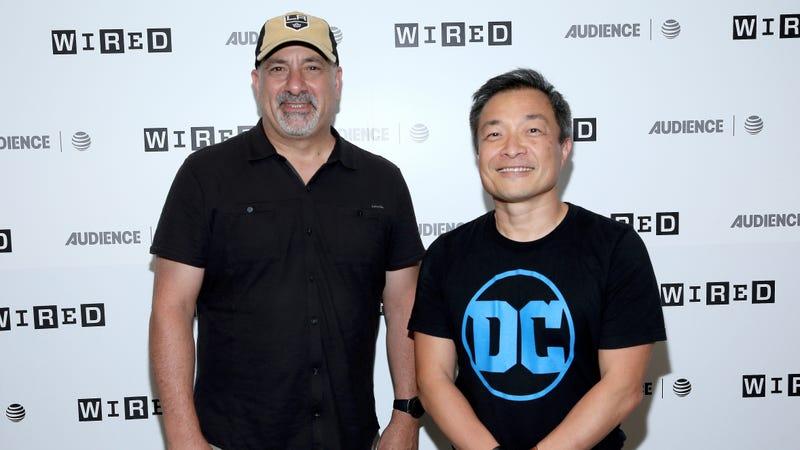 Dan DiDio and Jim Lee at San Diego Comic-Con in 2017.