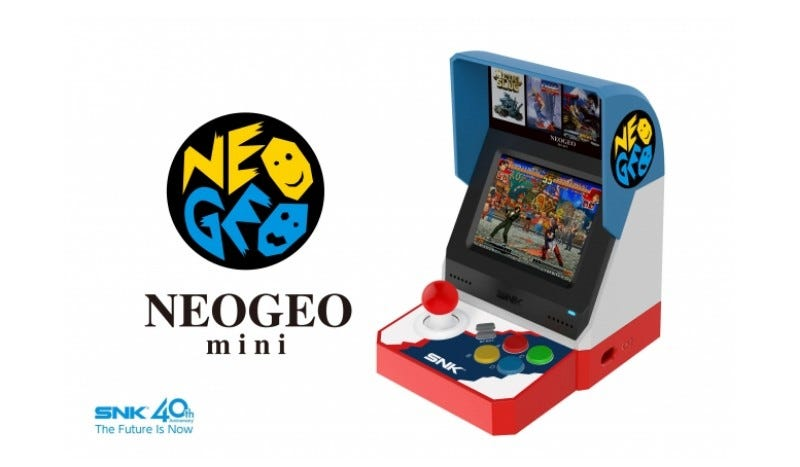 Illustration for article titled SNK Announces The Neo Geo Mini, Will Play 40 Games
