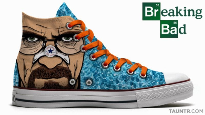 Illustration for article titled Sorry, you can't have these awesome Breaking Bad shoes