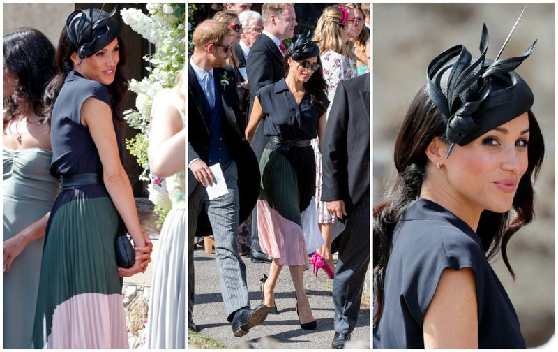 Meghan, Duchess of Sussex attends the wedding of Charlie van Straubenzee and Daisy Jenkson August 4, 2018 in Frensham, England.