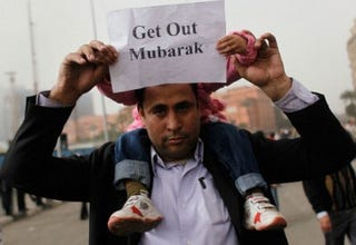 Protester in Egypt (Chris Hondros/Getty Images)