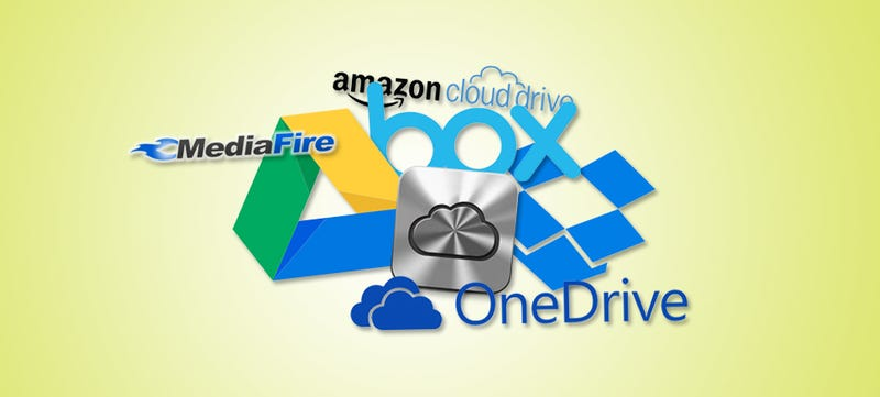 Illustration for article titled Cloud Storage Showdown: Google Drive, Dropbox, iCloud and More Compared