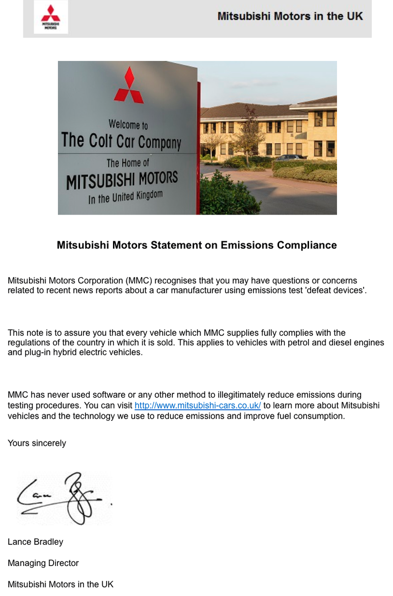 Illustration for article titled Just got this via email from Mitsubishi