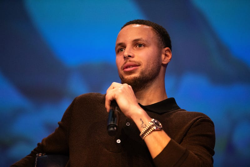 "Golden State Warriors point guard Stephen Curry attends the debut screening of ""Emanuel,"" a film about the 2015 mass shooting at the Charleston, S.C. Emanuel African Methodist Episcopal Church, at Cramton Auditorium of Howard University in Washington, D.C. on Jan. 23, 2019."