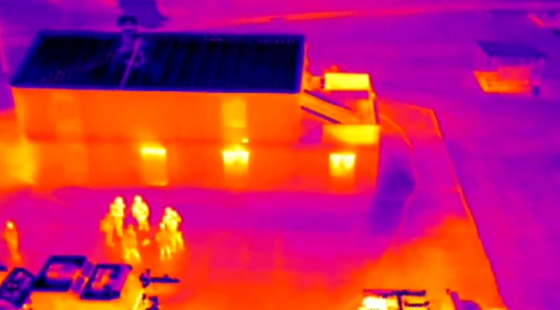 Illustration for article titled These Drones Can Fight Fires Using Thermal Imaging