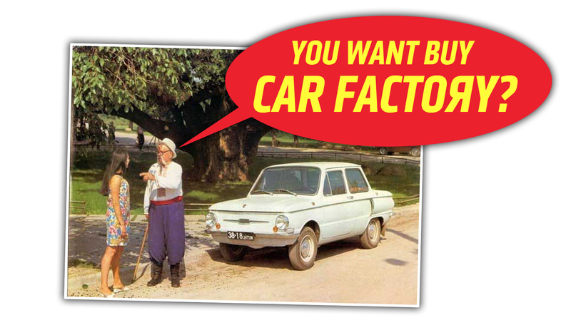 Illustration for article titled If You Want to Buy a Car Factory, Ukrainian Automaker ZAZ Is Selling One