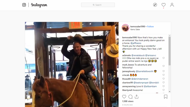 Why Is Jeff Bezos on a Horse? 2018 Is Nearly Over, So Here Are Some Random Guesses