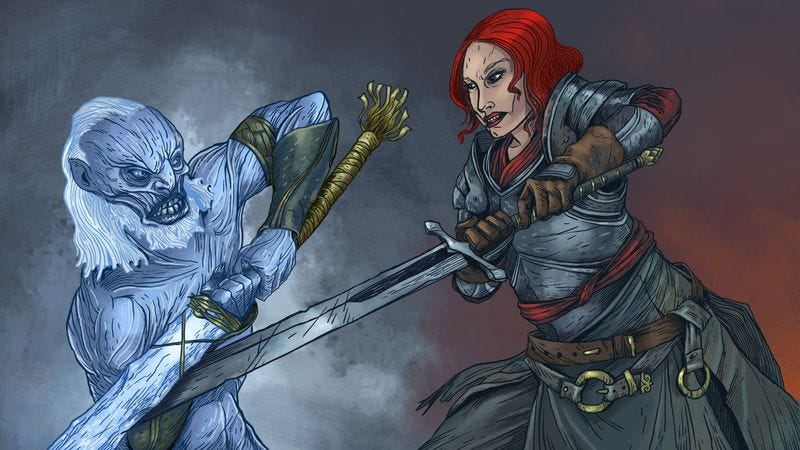 Jessica Chastain is one possible actor we think could give a White Walker the business. (Illustration: Nick Wanserski)