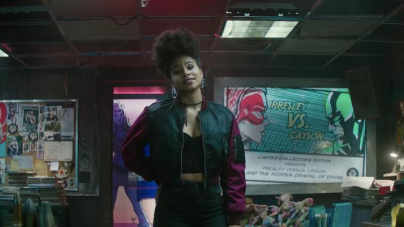 Zazie Beetz appearing as Domino in Deadpool 2