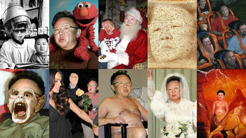 Illustration for article titled Let's All Laugh At Kim Jong-Il While Looking At His Secret Life Photoshops