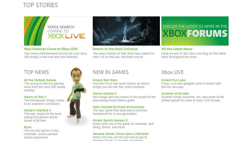 Illustration for article titled Microsoft's E3 2011 Website Outs Halo 4 and More