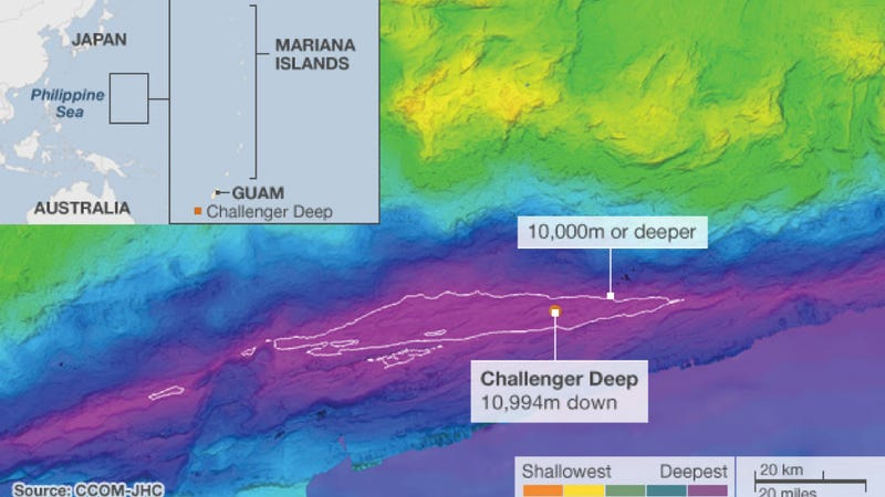 Illustration for article titled The deepest trench on Earth is even deeper than we thought