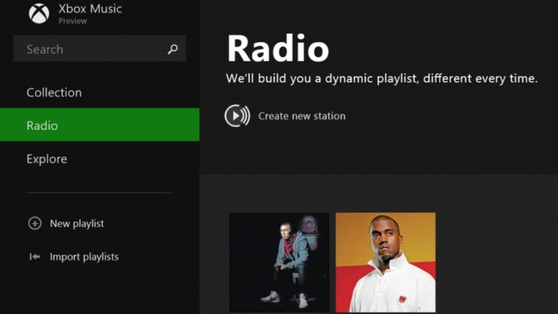 Illustration for article titled Xbox Music For Windows 8.1 Now Has Free, Ad-Supported Radio