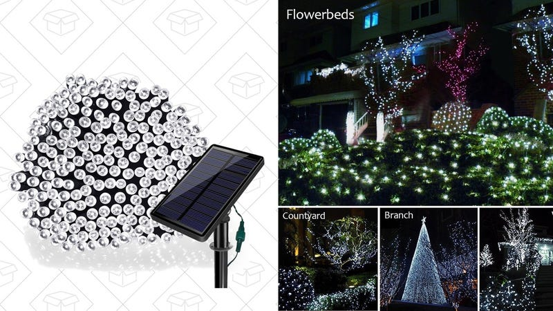 Solar-Powered Outdoor Lights, $9 with code 68H6FRQO