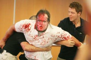 "Illustration for article titled A Wrestler Called ""Hannibal"" Thinks A Wrestler Called ""Butcher"" Gave Him Hep C"