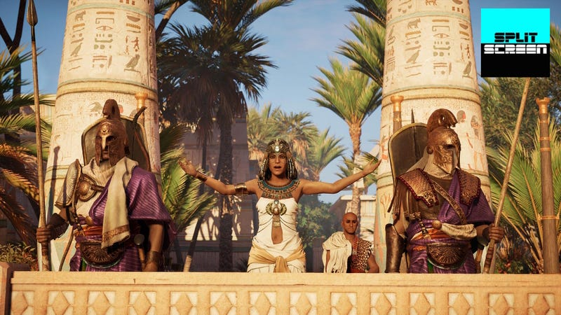 Illustration for article titled We Talk Assassin's Creed Origins And NeoGAF On Today's Splitscreen