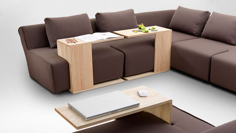 Slotted Sofa Makes It Easier To Dine In Front Of The TV