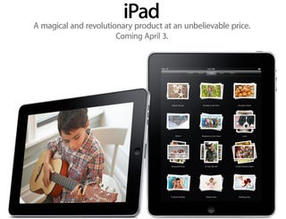 Illustration for article titled iPad Launches April 3, Pre-Orders Start March 12