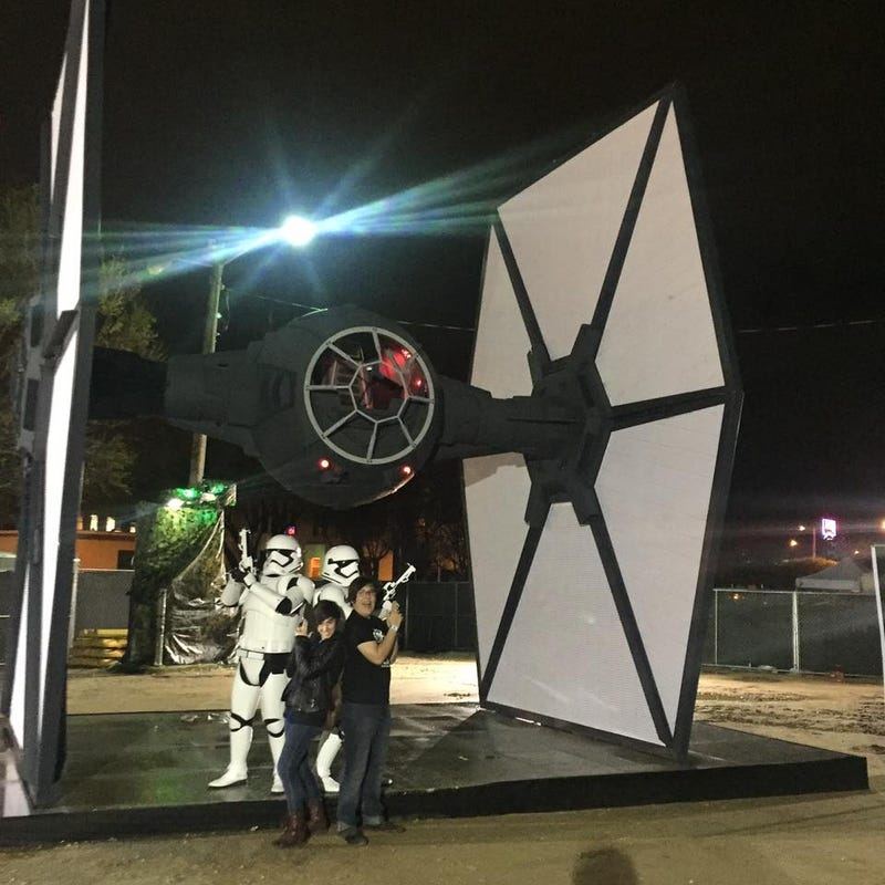Illustration for article titled SXSW has a TIE Fighter and some Storm Troopers