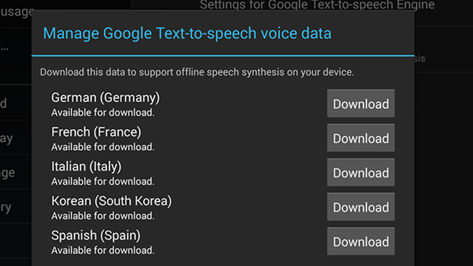 Google's Text-to-Speech App Replaces the Built-in Option