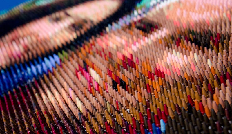 Illustration for article titled This Website Will Turn Your Photos Into Crayon Mosaic Masterpieces