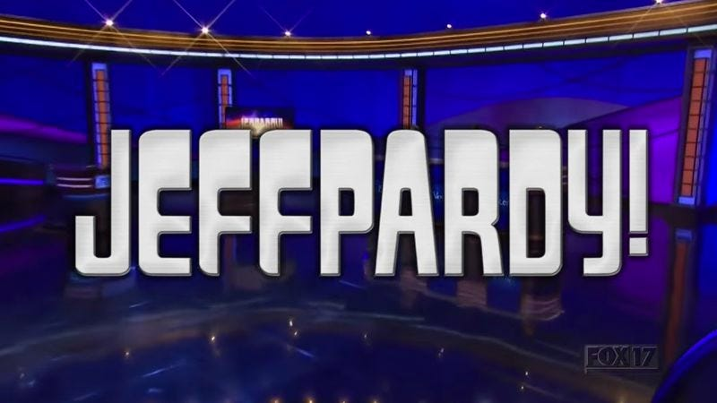 """Illustration for article titled """"Jeffpardy!"""" is a Jeopardy! parody that jokes about Jeff"""