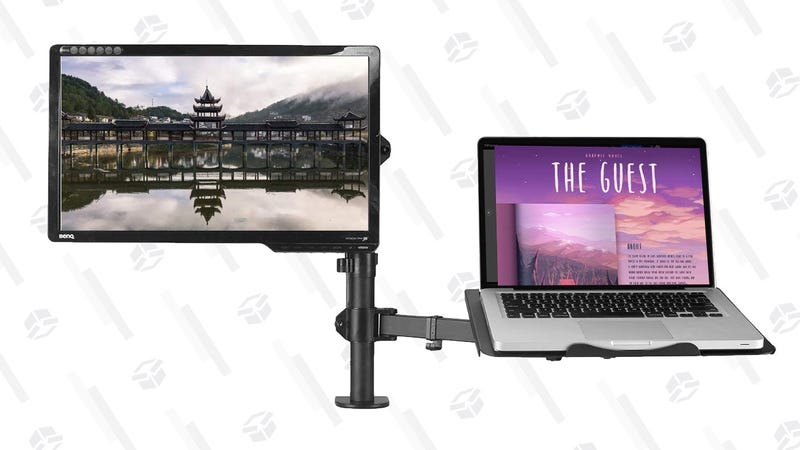 Suptek Dual Monitor/Laptop Arm | $40 | Amazon