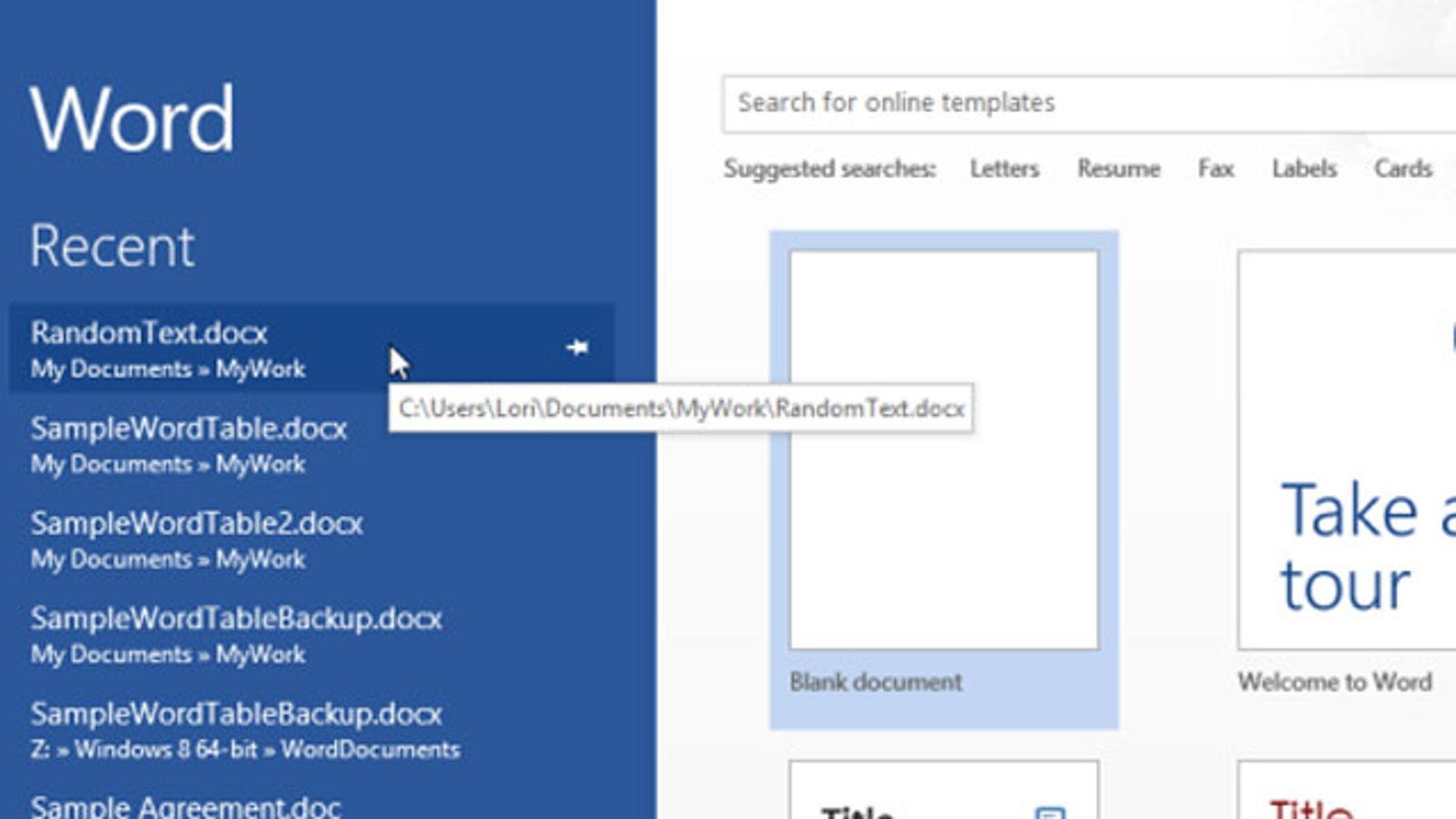 Disable Microsoft Office 2013's Start Screen with This