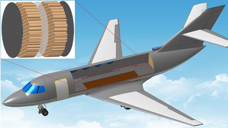 Illustration for article titled Airplane Cabins Could Be 100X Quieter With These Rubber Mufflers