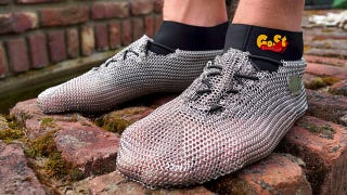 Illustration for article titled Can Chainmail Sneakers Possibly Be Comfy?
