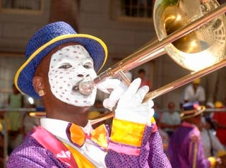 Participant in Cape Town Minstrel Festival. (Getty Images)