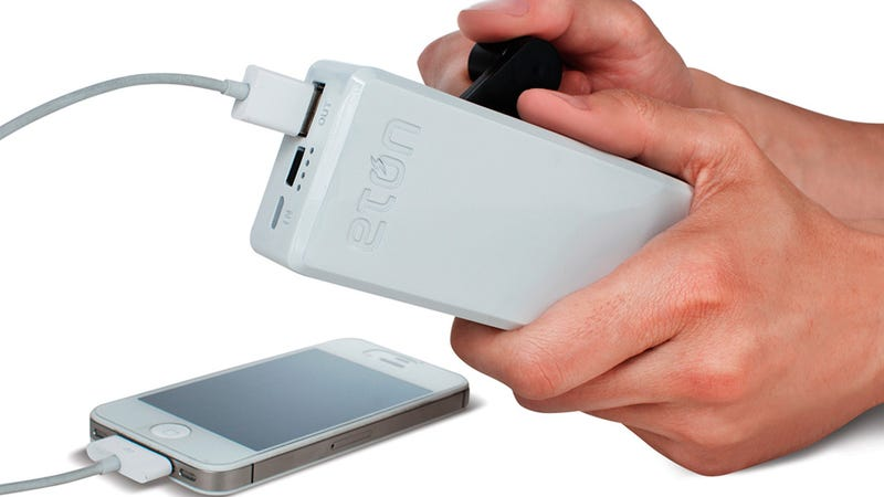 Illustration for article titled This Hand-Cranked Backup Battery Always Has a Source Of Power: You