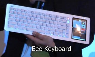 Illustration for article titled Asus Eee Keyboard Shown Running Intel's Moblin Netbook OS