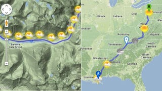 Illustration for article titled Road Trip Planner Lets You Choose a Route With the Best Weather