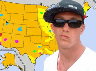 Illustration for article titled The Official Jalopnik Map Of United States Vehicular Douchebaggery