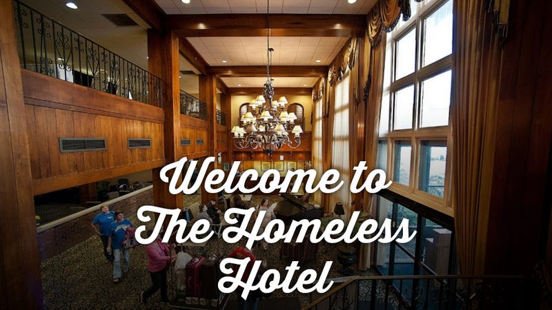 Illustration for article titled This Controversial Hotel Doubles as a Homeless Shelter