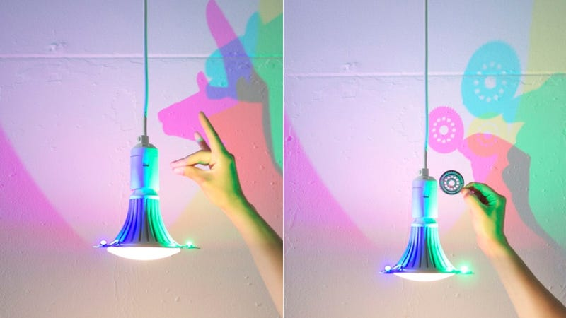 Illustration for article titled Make CMYK Shadow Puppets with This LED Lamp