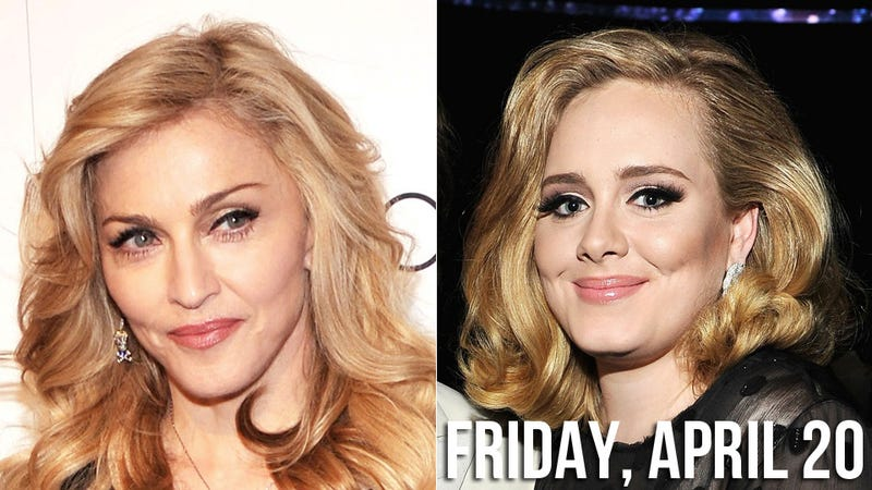 Illustration for article titled Madonna Wants Adele to Join Her Onstage For the Best Concert Ever