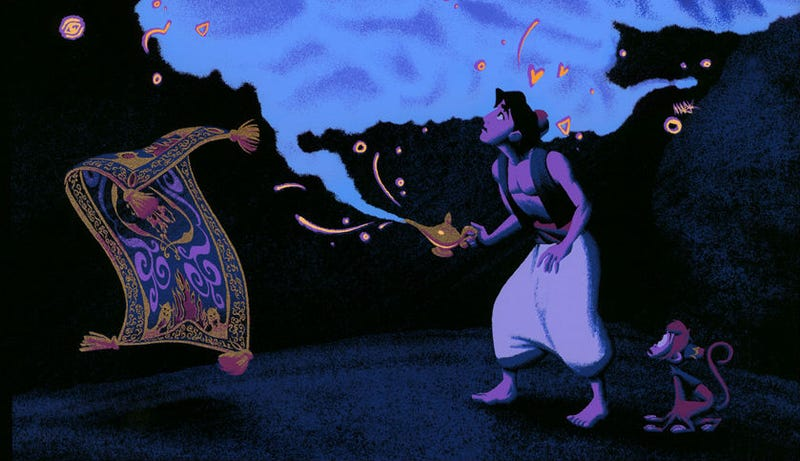 Illustration for article titled Use All Three Wishes to Get This Spectacular, Limited Edition Aladdin Poster