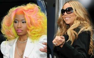 Nicki Minaj  (Ilya S. Savenok/Getty Images);Mariah Carey (Ilya S. Savenok/Getty Images)