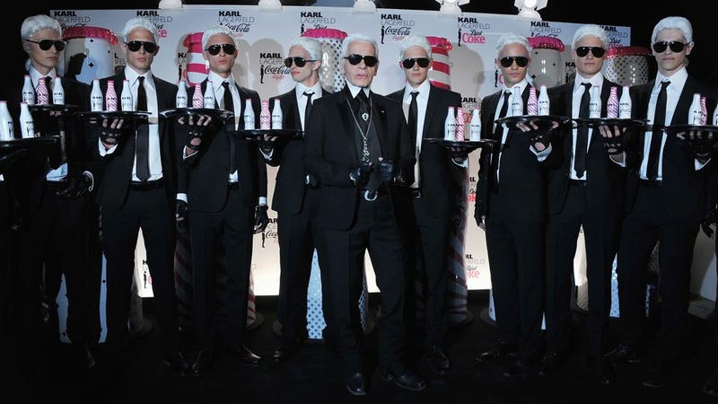 Illustration for article titled Karl Lagerfeld Doesn't Drink Water — Just Diet Coke