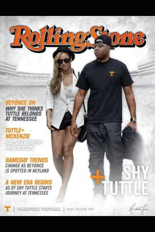 Illustration for article titled If You Play Football At Tennessee, You'll Hang Out With Beyoncé, Maybe